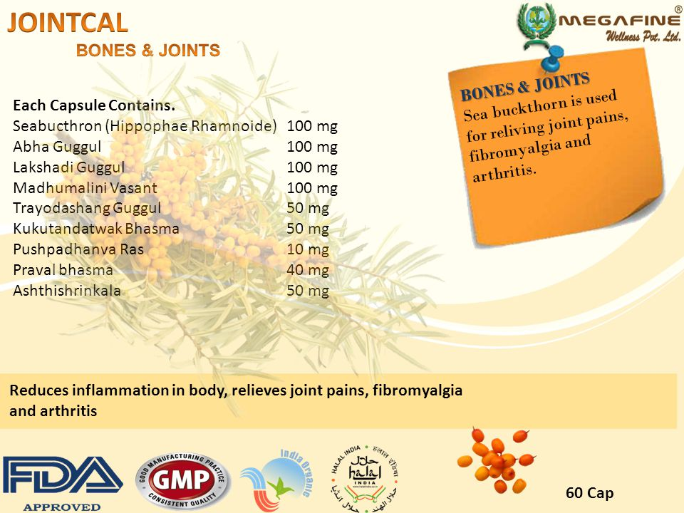 JOINTCAL BONES & JOINTS BONES & JOINTS