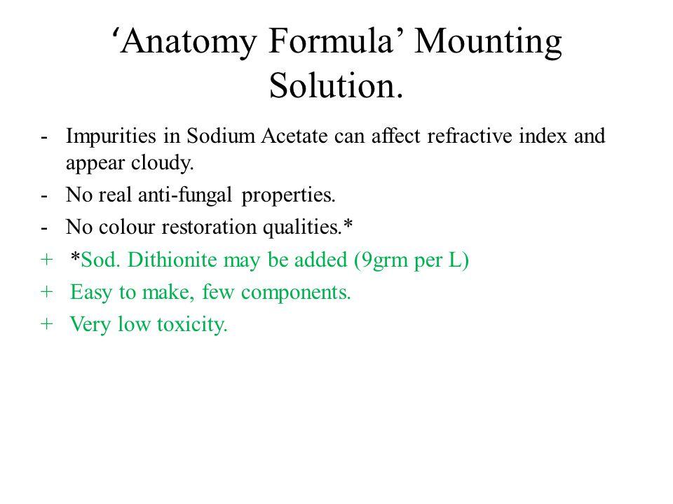 'Anatomy Formula' Mounting Solution.
