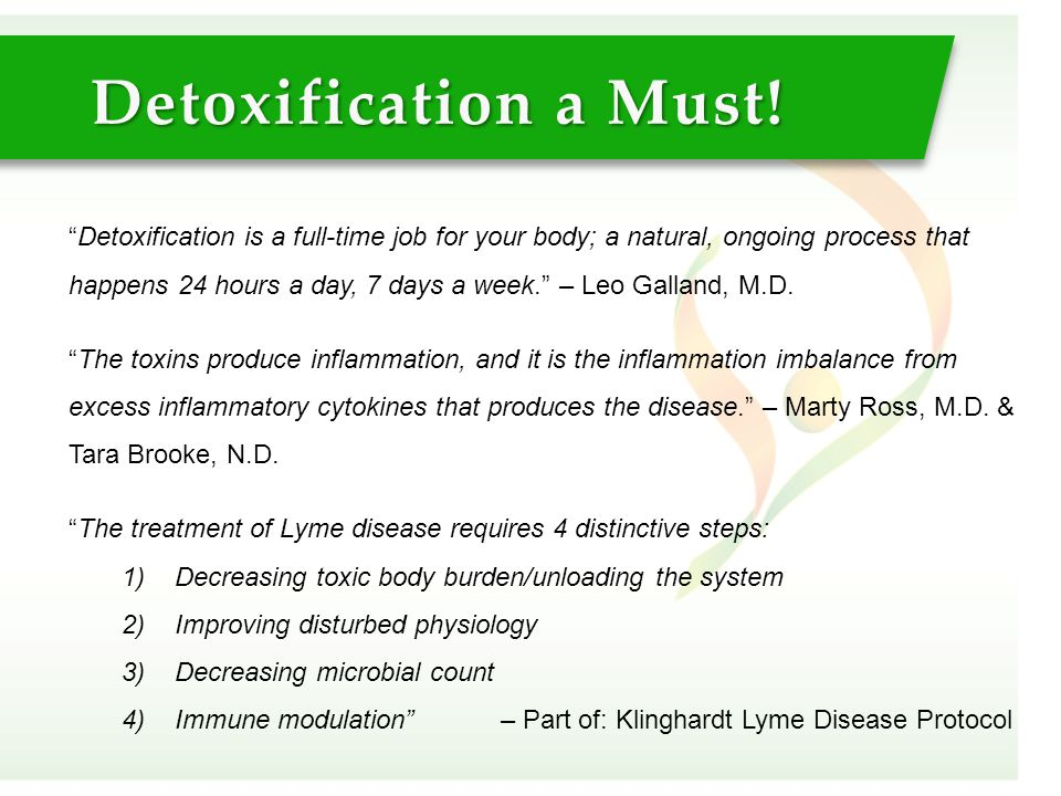Detoxification a Must!