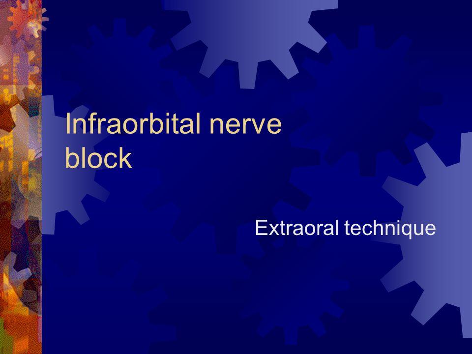 Infraorbital nerve block