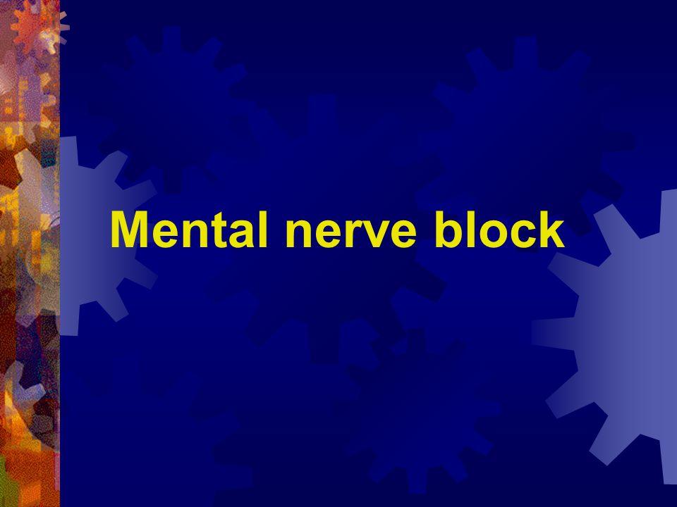 Mental nerve block