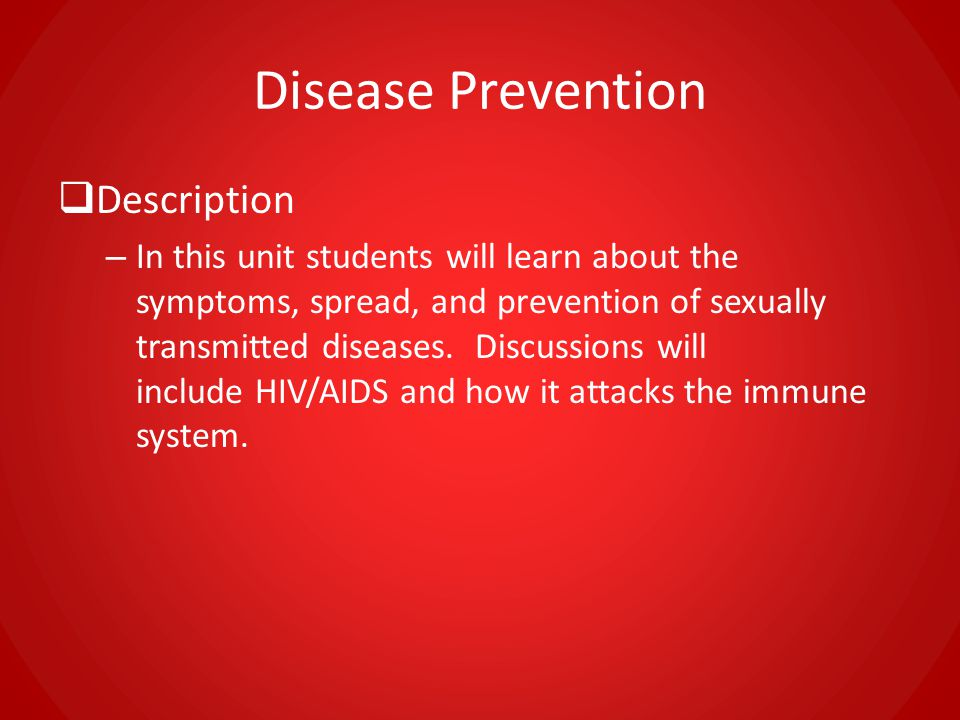 Disease Prevention Description