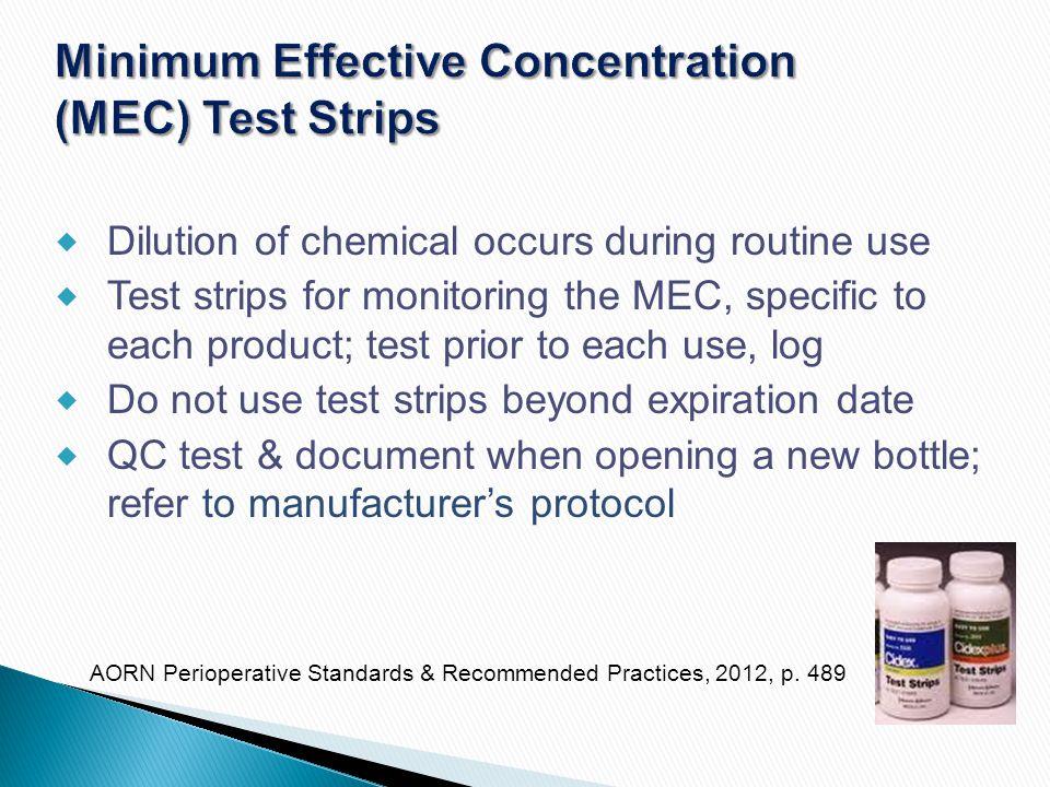 Minimum Effective Concentration (MEC) Test Strips