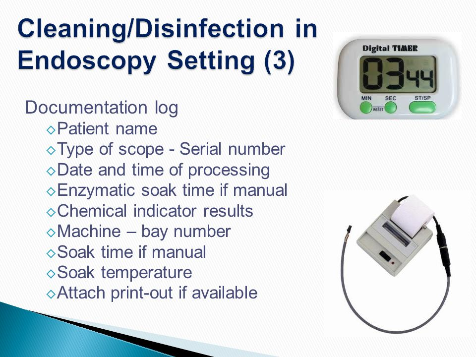 Cleaning/Disinfection in Endoscopy Setting (3)