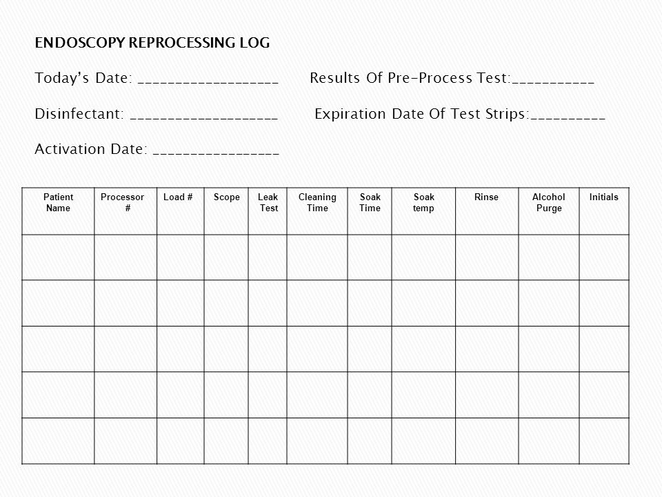Autoclave Sterilization Log Sheet Autoclave Biohazardous