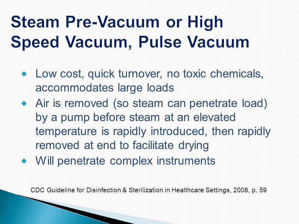 Steam Pre-Vacuum or High Speed Vacuum, Pulse Vacuum