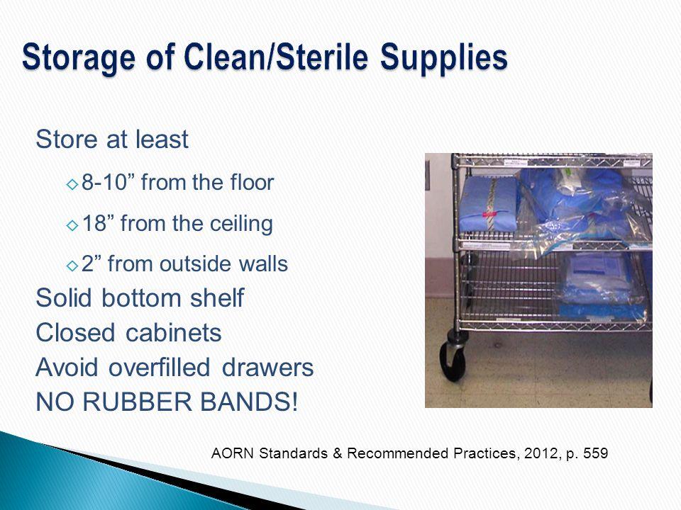 Storage of Clean/Sterile Supplies