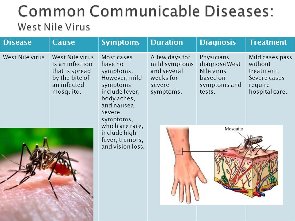 Common Communicable Diseases: West Nile Virus