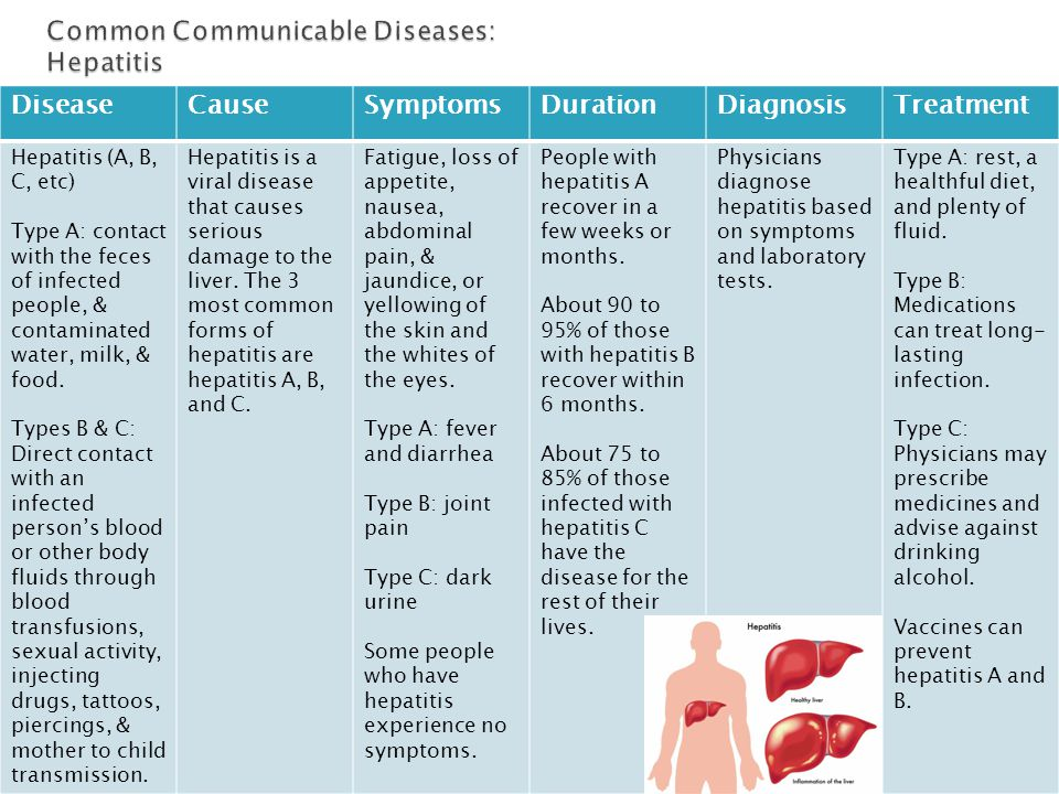 Common Communicable Diseases: Hepatitis