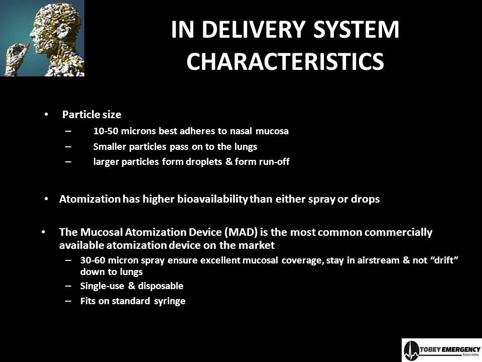 IN DELIVERY SYSTEM CHARACTERISTICS