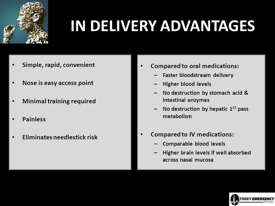 IN DELIVERY ADVANTAGES