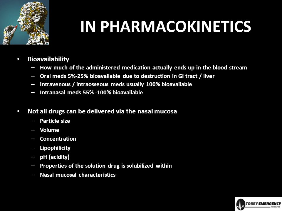 IN PHARMACOKINETICS Bioavailability