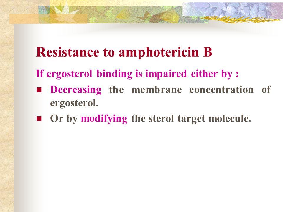 Resistance to amphotericin B