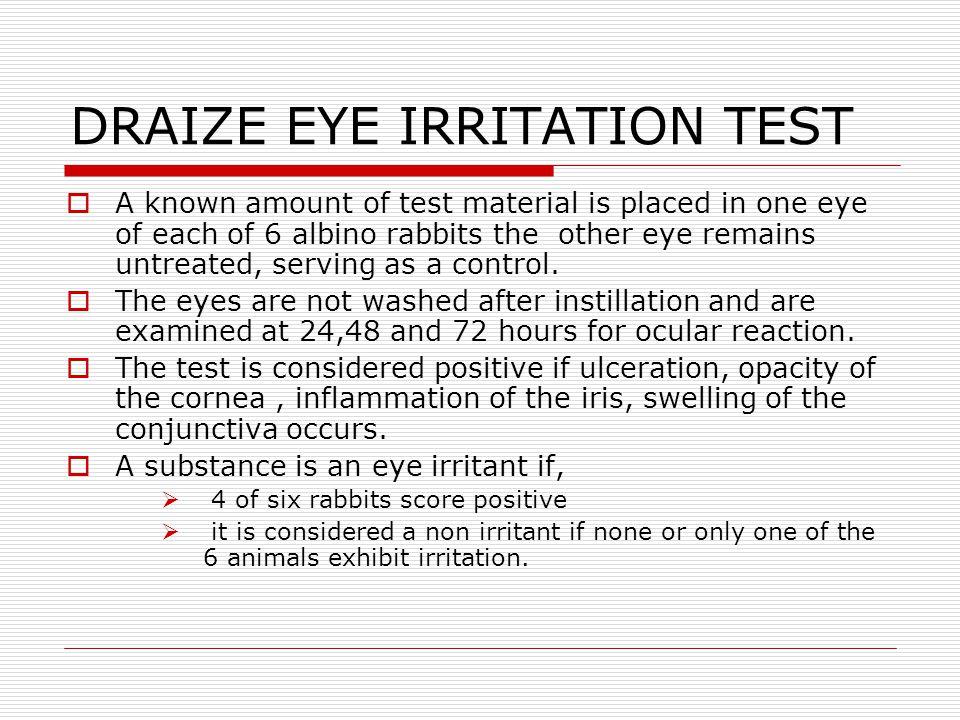 DRAIZE EYE IRRITATION TEST