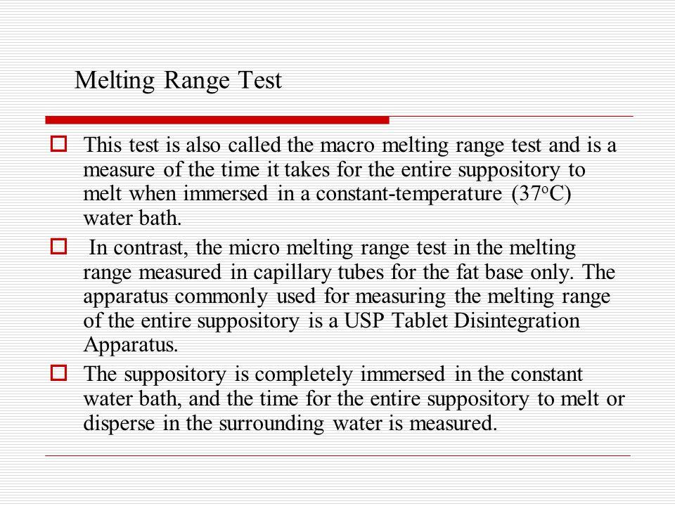 Melting Range Test