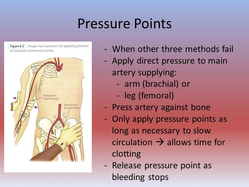Pressure Points When other three methods fail