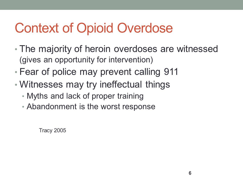 Context of Opioid Overdose