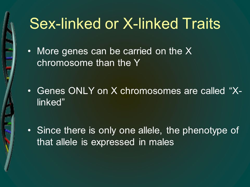 Sex-linked or X-linked Traits