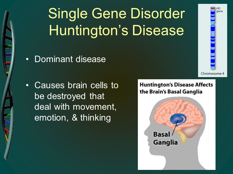 Single Gene Disorder Huntington's Disease