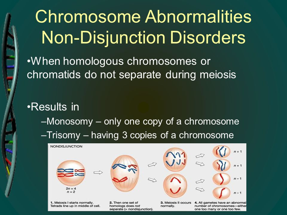 Chromosome Abnormalities Non-Disjunction Disorders