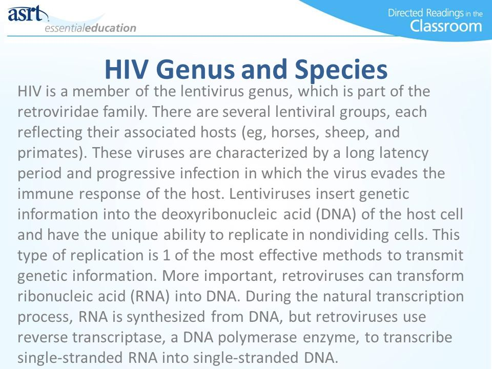 HIV Genus and Species