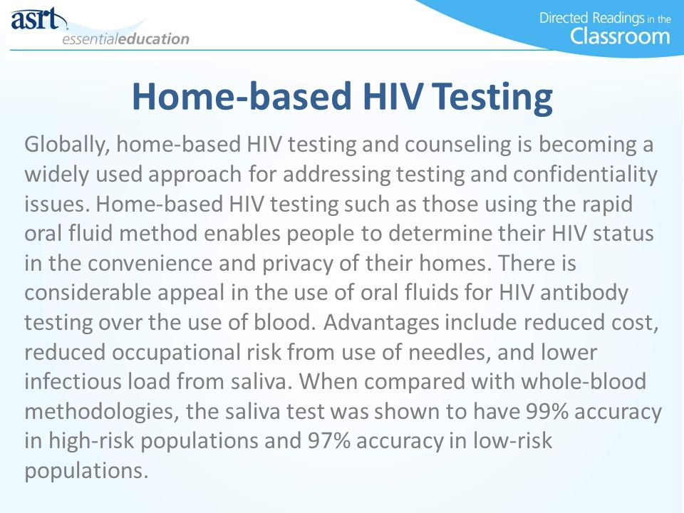 Home-based HIV Testing