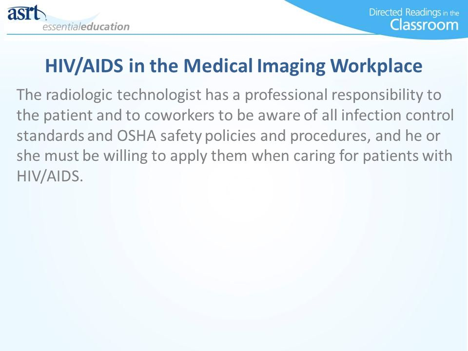HIV/AIDS in the Medical Imaging Workplace