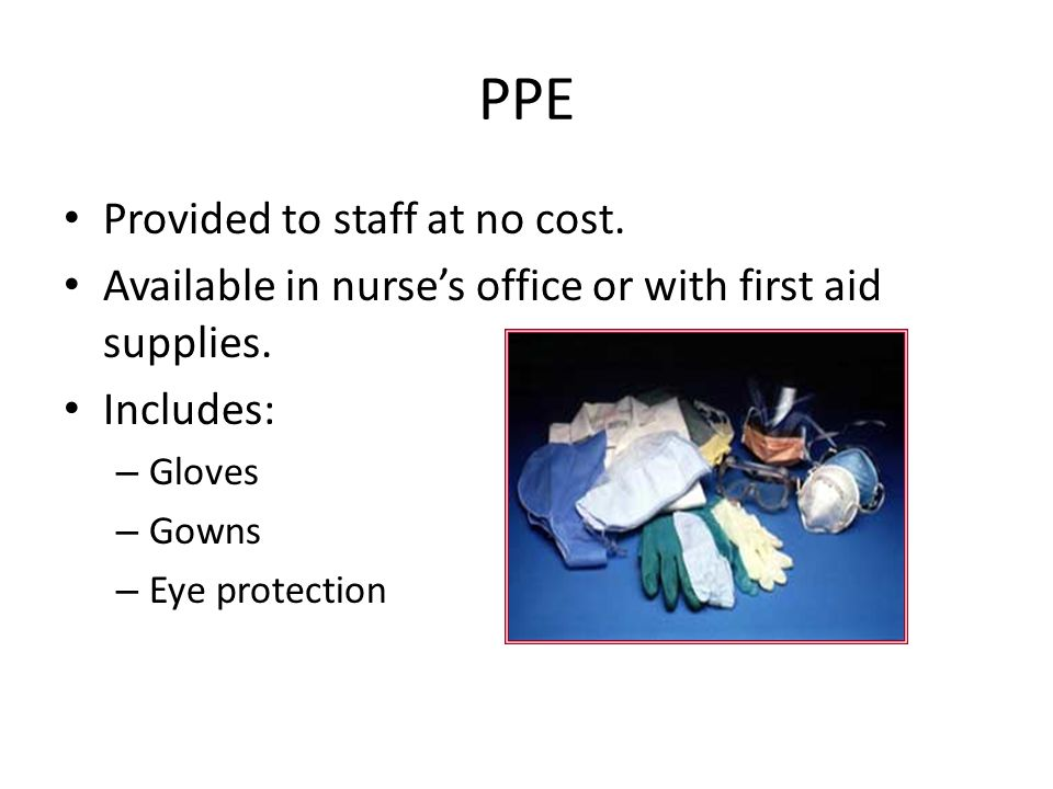PPE Provided to staff at no cost.