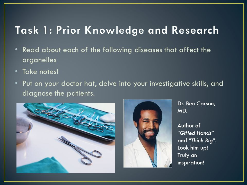 Task 1: Prior Knowledge and Research
