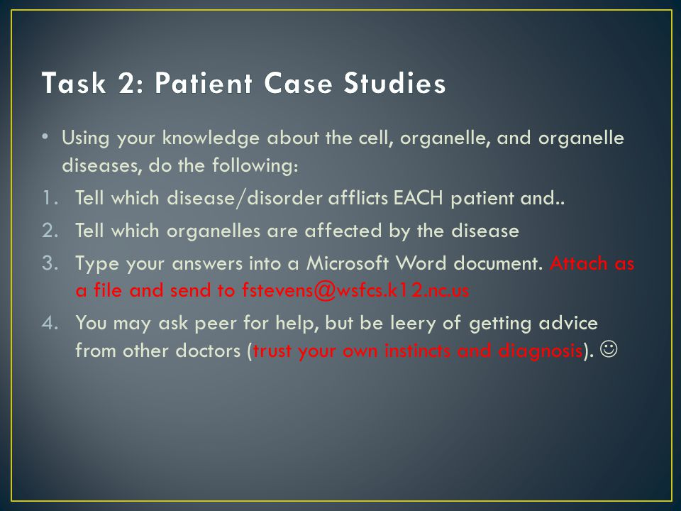 Task 2: Patient Case Studies