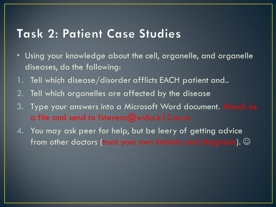 Task 2: Patient Case Studies