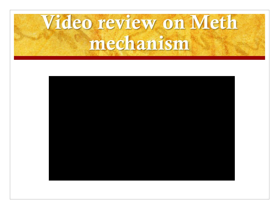 Video review on Meth mechanism