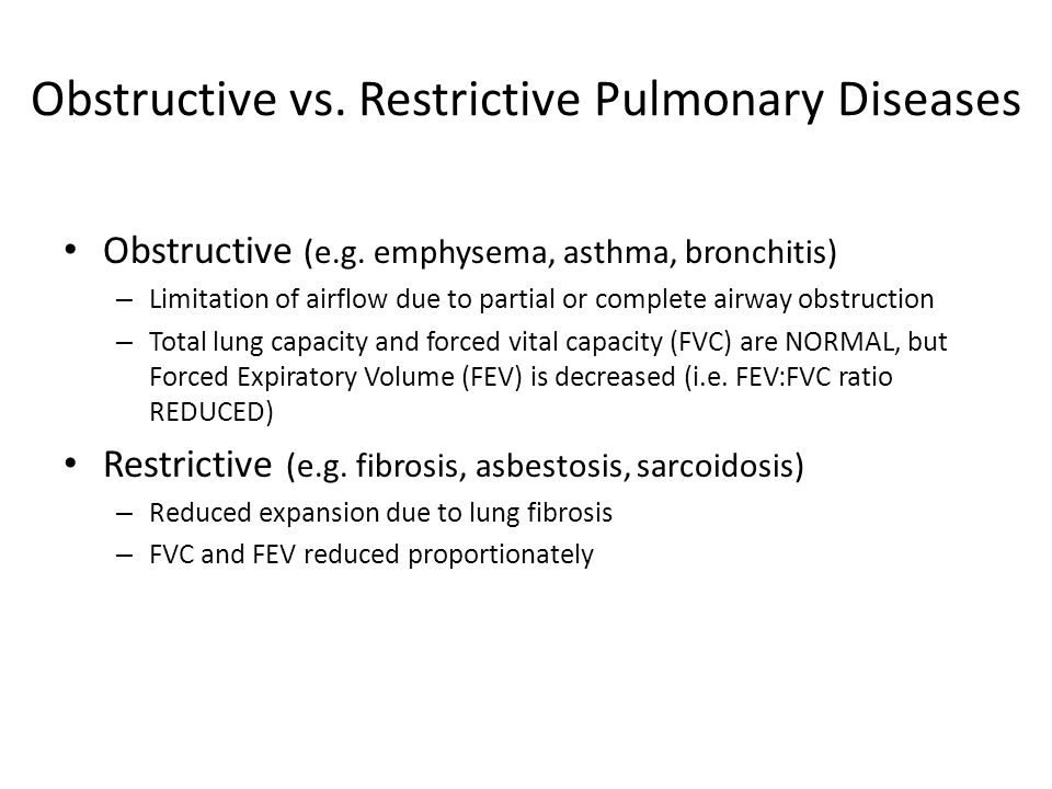 Obstructive vs. Restrictive Pulmonary Diseases