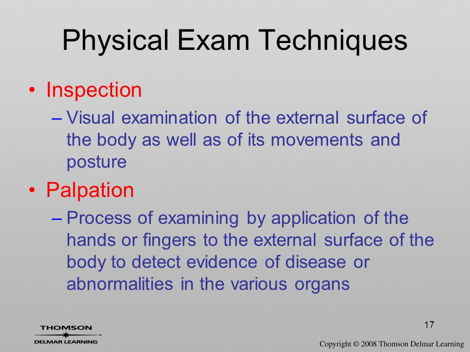Physical Exam Techniques
