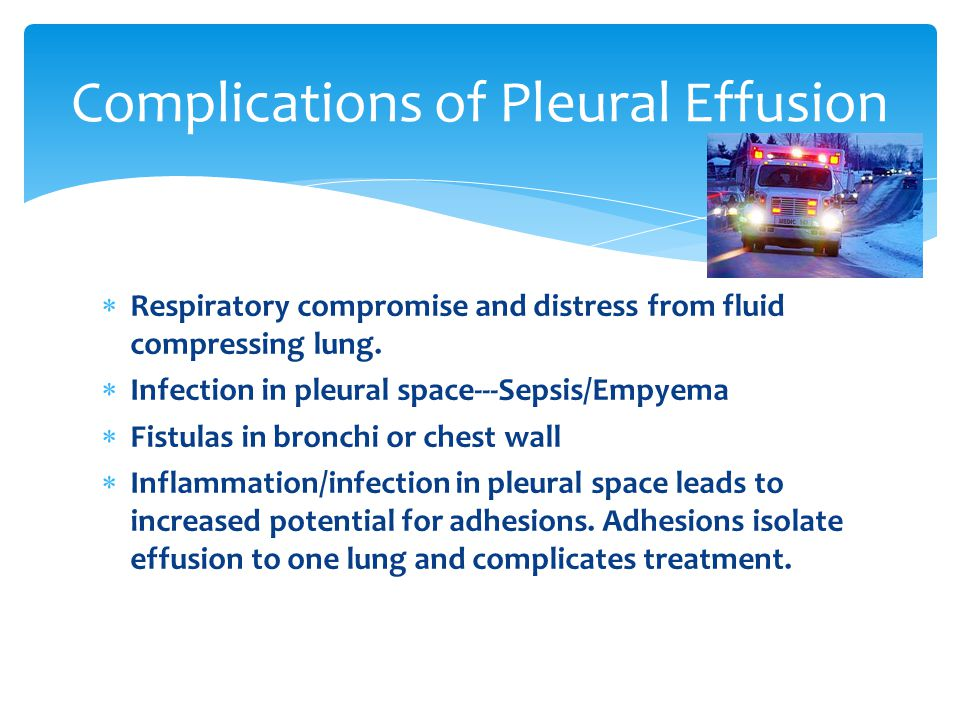 Complications of Pleural Effusion