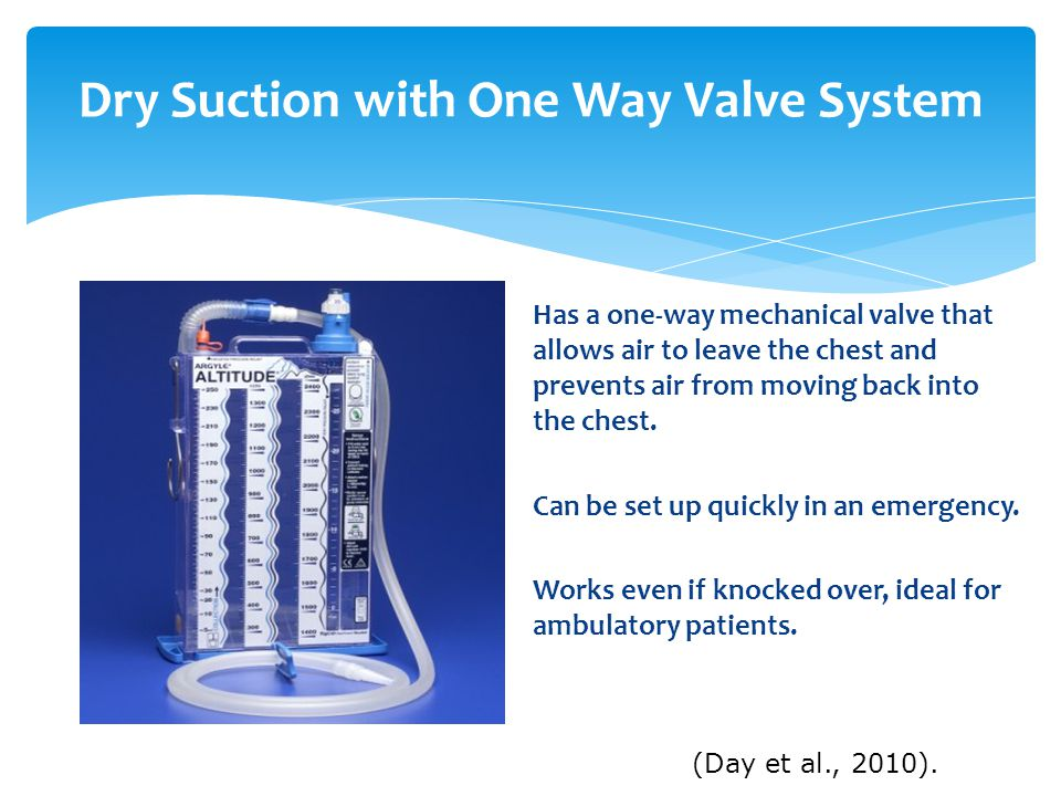 Dry Suction with One Way Valve System