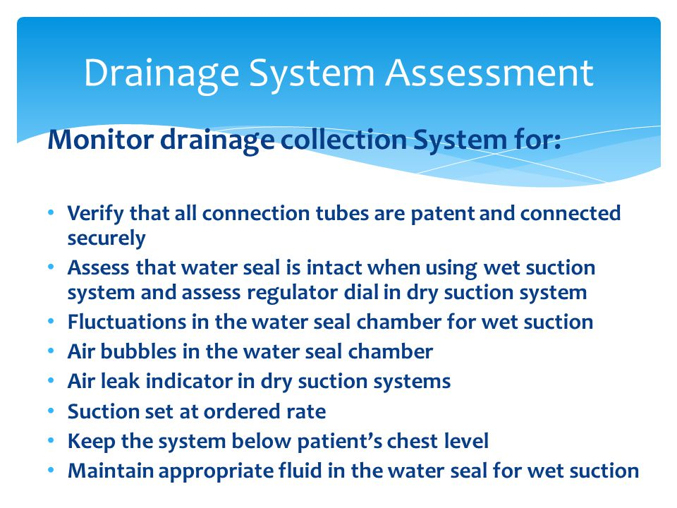 Drainage System Assessment