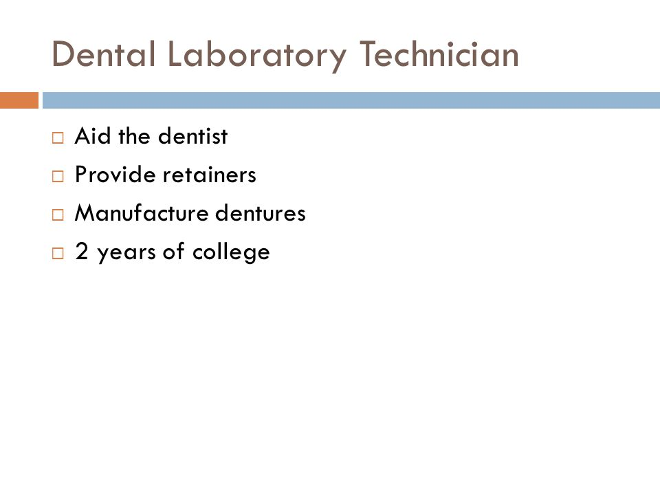 Dental Laboratory Technician