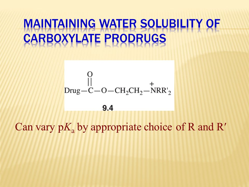 Maintaining Water Solubility of Carboxylate Prodrugs