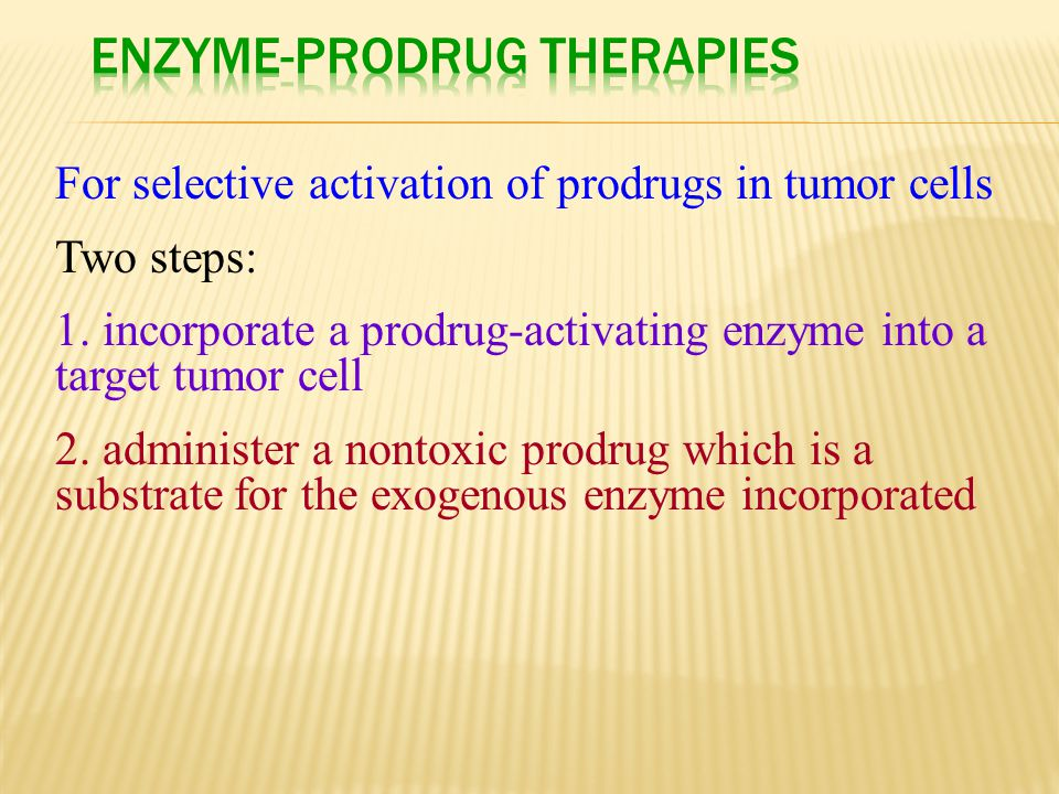 Enzyme-Prodrug Therapies