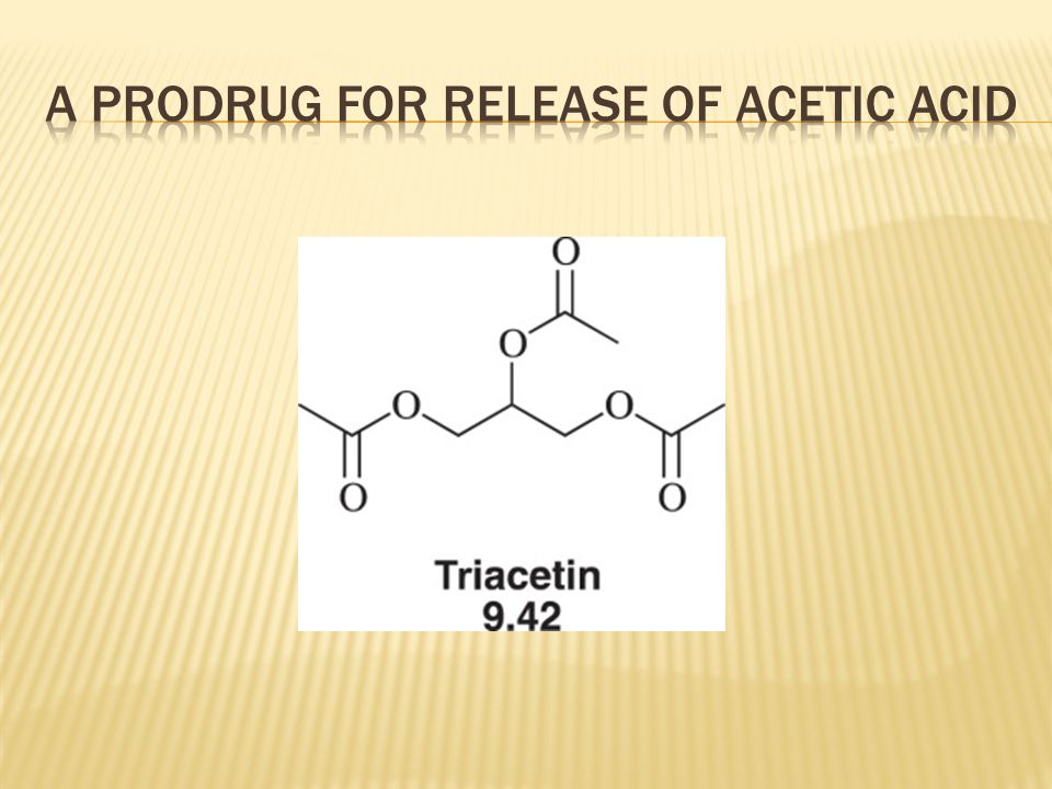 A prodrug for release of acetic acid