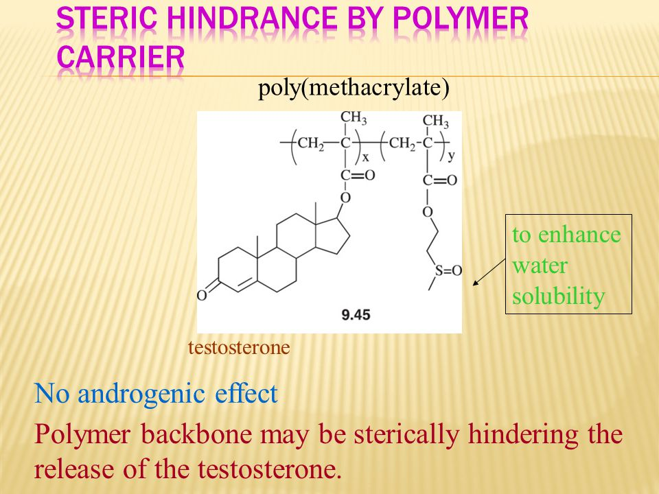 Steric Hindrance by Polymer Carrier
