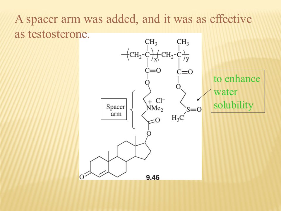 A spacer arm was added, and it was as effective as testosterone.
