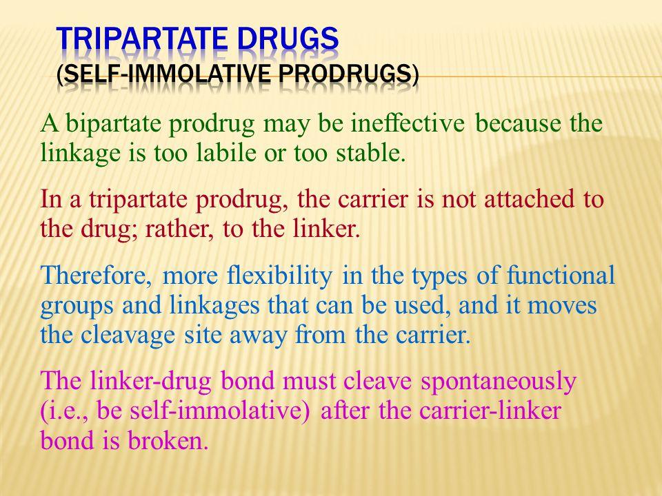 Tripartate Drugs (Self-immolative Prodrugs)