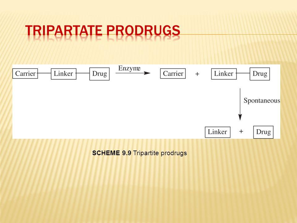 Tripartate Prodrugs Scheme 9.9 Tripartite prodrugs