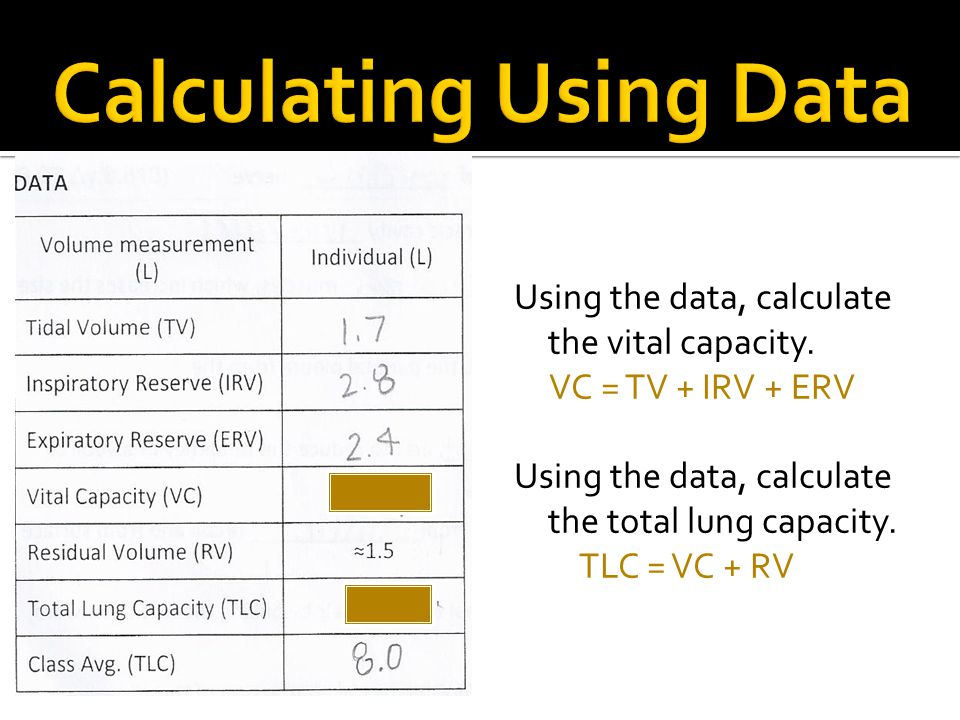 Calculating Using Data