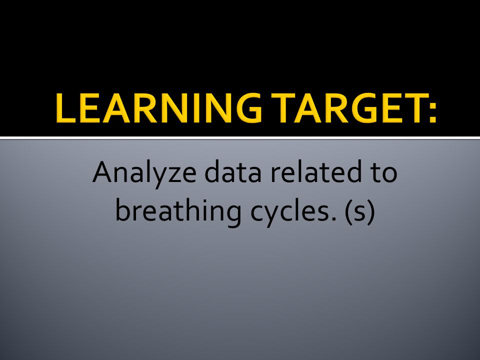 Analyze data related to breathing cycles. (s)