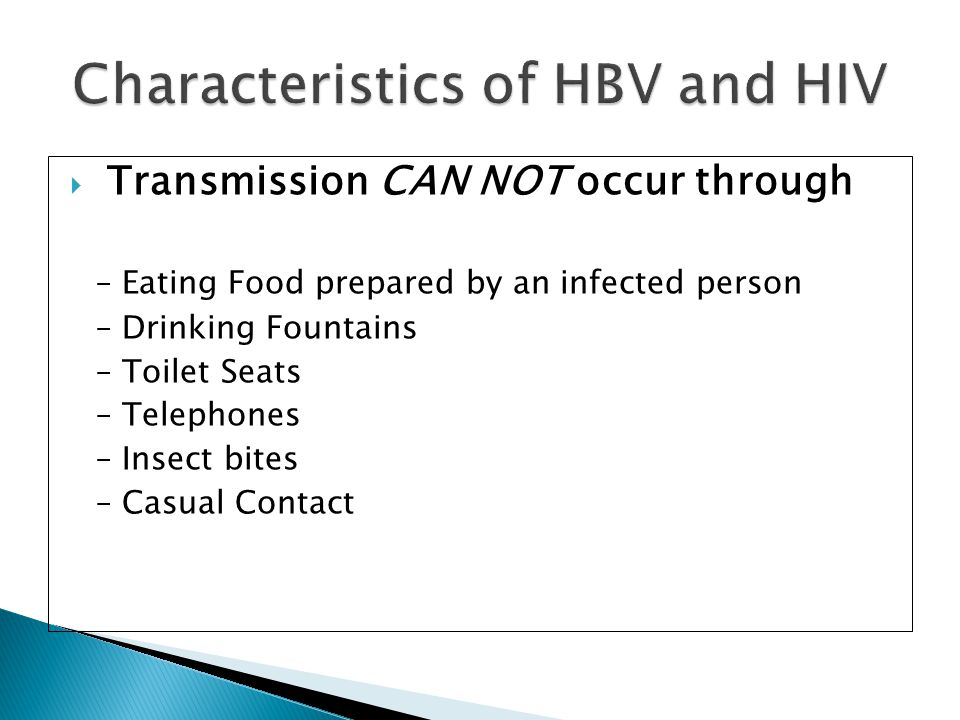 Characteristics of HBV and HIV