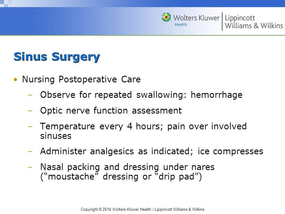 Sinus Surgery Nursing Postoperative Care