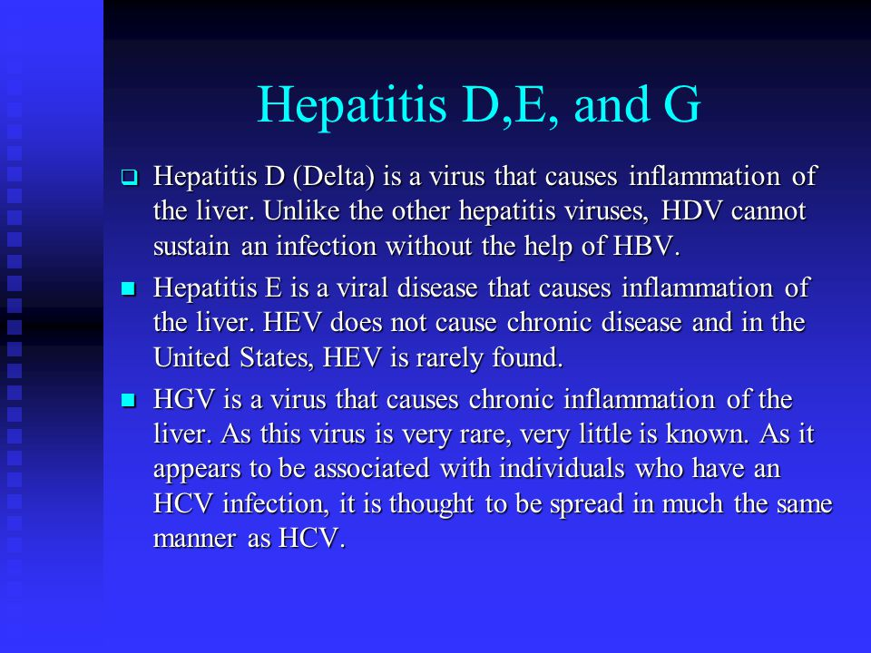 Hepatitis D,E, and G